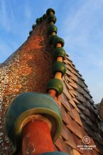 The rooftop of Casa Batlló, Barcelona