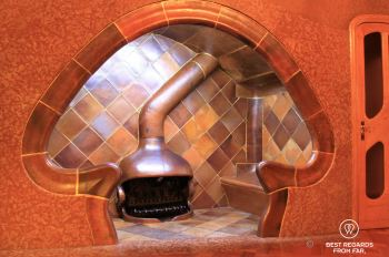 The mushroom fireplace at Casa Batlló, Barcelona