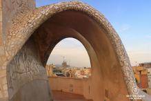 La Sagrada Familia from the rooftop of La Pedrera, Barcelona