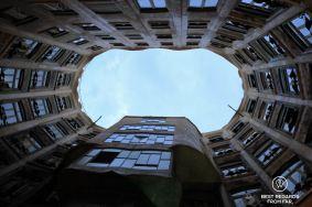 Internal patio at La Pedrera, Barcelona