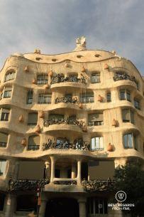 Façade of La Pedrera, Barcelona