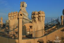 Stormtroopers occupying the rooftop of La Pedrera, Barcelona