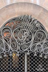 The wrought iron G for Güell at the entrance of the Palau Güell, Barcelona - Palau Güell - Diputació de Barcelona - Fotografo: Claire Lessiau