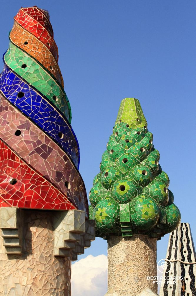 The rooftop chimneys, Palau Güell, Barcelona - Palau Güell - Diputació de Barcelona - Fotografo: Claire Lessiau