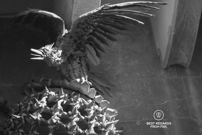 The wrought iron phoenix, Palau Güell, Barcelona - Palau Güell - Diputació de Barcelona - Fotografo: Claire Lessiau