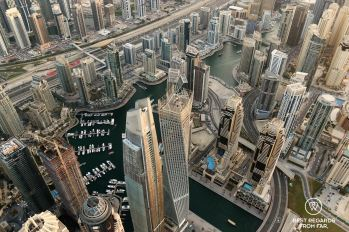 Paramotoring over the Marina, Dubai, UAE
