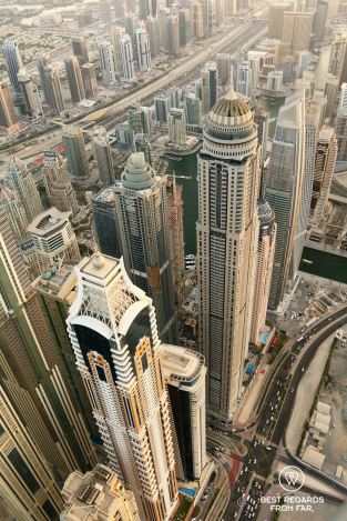 Paramotoring over Dubai, UAE