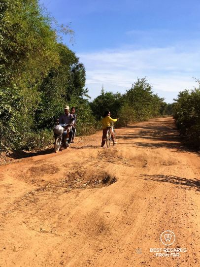 The road to Preah Khan temple, Cambodia