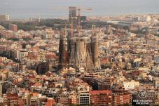La Sagrada Familia seen from Bunker del Carmen, Barcelona