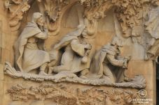 Scene from the Nativity Façade: the 3 kings, La Sagrada Familia, Barcelona