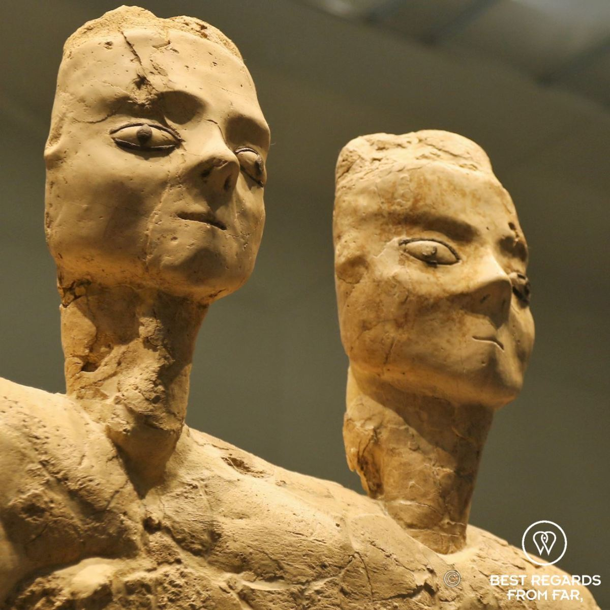 Monumental statue with 2 heads, Jordan, 6500BCE, Louvre Abu Dhabi, UAE