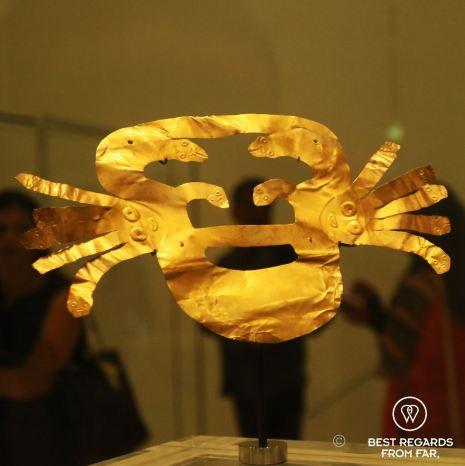 Gold funerary mask, Peru, 100BCE-700CE, Louvre Abu Dhabi, UAE.