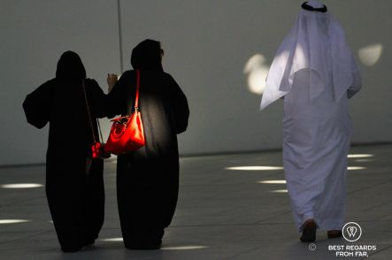 Local visitors at Louvre Abu Dhabi, UAE