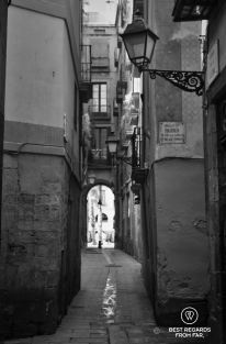 The medieval streets of El Born, Barcelona