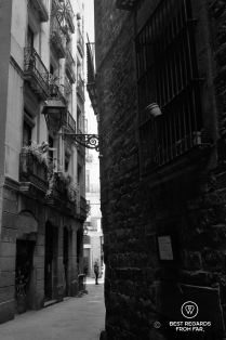 A medieval street in El Call, Barcelona