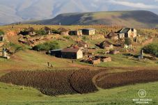 Early morning in Libibing village in the mountains of Eastern Lesotho.