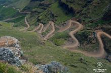 The last laces of Sani Pass, South Africa