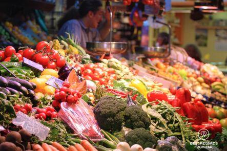 The colourful stalls of the Santa Caterina market, Barcelona