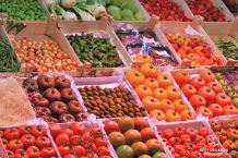 Tomatoes of the Santa Caterina market, Barcelona