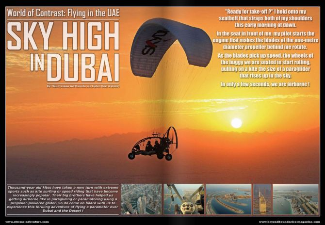 Sky high in Dubai - Beyond Boundaries magazine.JPG