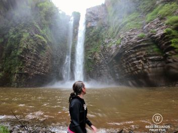 Arriving at the Mac Mac falls, canyoning, Sabie, South Africa