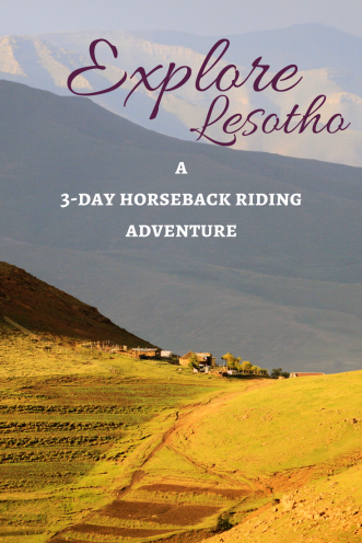 Pin it to read about horseback riding Lesotho later!