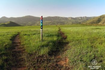 The mountain biking trails in the Northern Drakensberg, South Africa