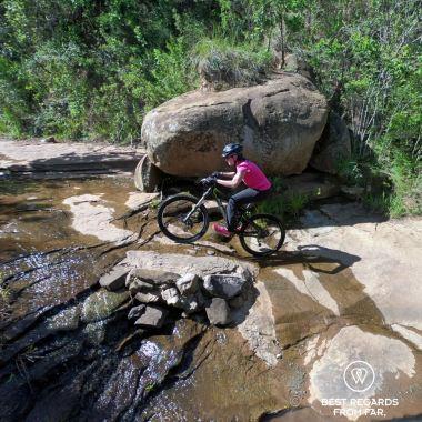 Mountain biking the Northern Drakensberg, South Africa