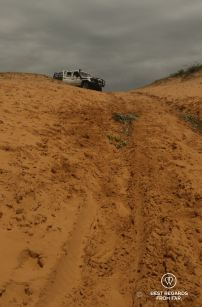 Seriously challenging 4x4 track to Black Rock Beach, Kosi Bay, South Africa