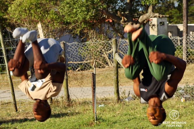 Synchronised back flip from the ground, Nemato, Change a Life, Port Alfred, South Africa