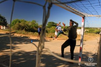 Handball training at Nemato, Change a Life, Port Alfred, South Africa