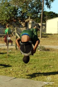 Back flip at Nemato, Change a Life, Port Alfred, South Africa