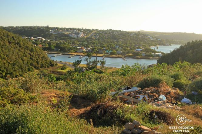 The view from the township on the rowing venue and Port Alfred, South Africa