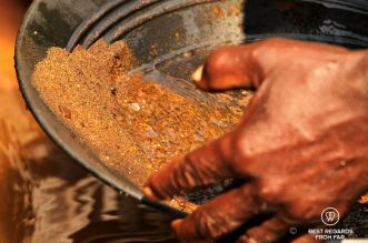 Gold panning in the old days, South Africa
