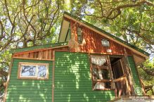 The upcycled treehouse, Shaka Surf School, Port Alfred, South Africa