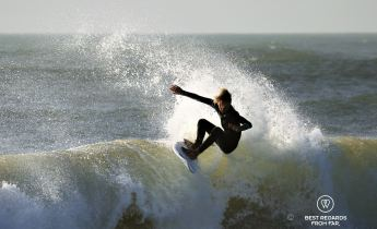 National champion Kye on his new Fishtix surfboard, South Africa