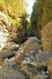 Entrance of the canyon, kloofing in George, South Africa