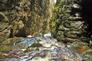 Kloofing (or canyoning) in George, South Africa