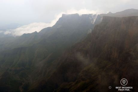View from the top of the Tugela Falls, Drakensberg, South Africa
