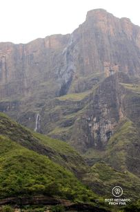 View on the Tugela Falls from the Tugela Gorde, Drakensberg, South Africa