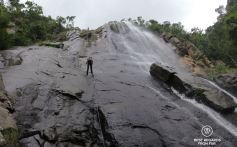 Abseiling the Madonna and Child Waterfall, Hogsback, South Africa