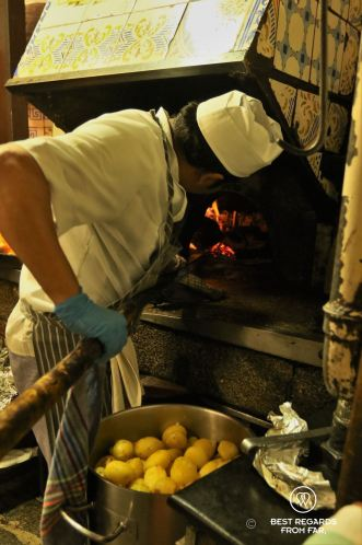 The wood oven at Botin dating back to 1725, Madrid