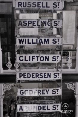Former street signs, District Six Museum, Cape Town, South Africa