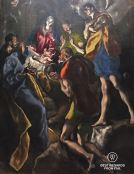 El Greco, detail of The adoration of the shepherds, 1613, Museo del Prado, Madrid, Spain