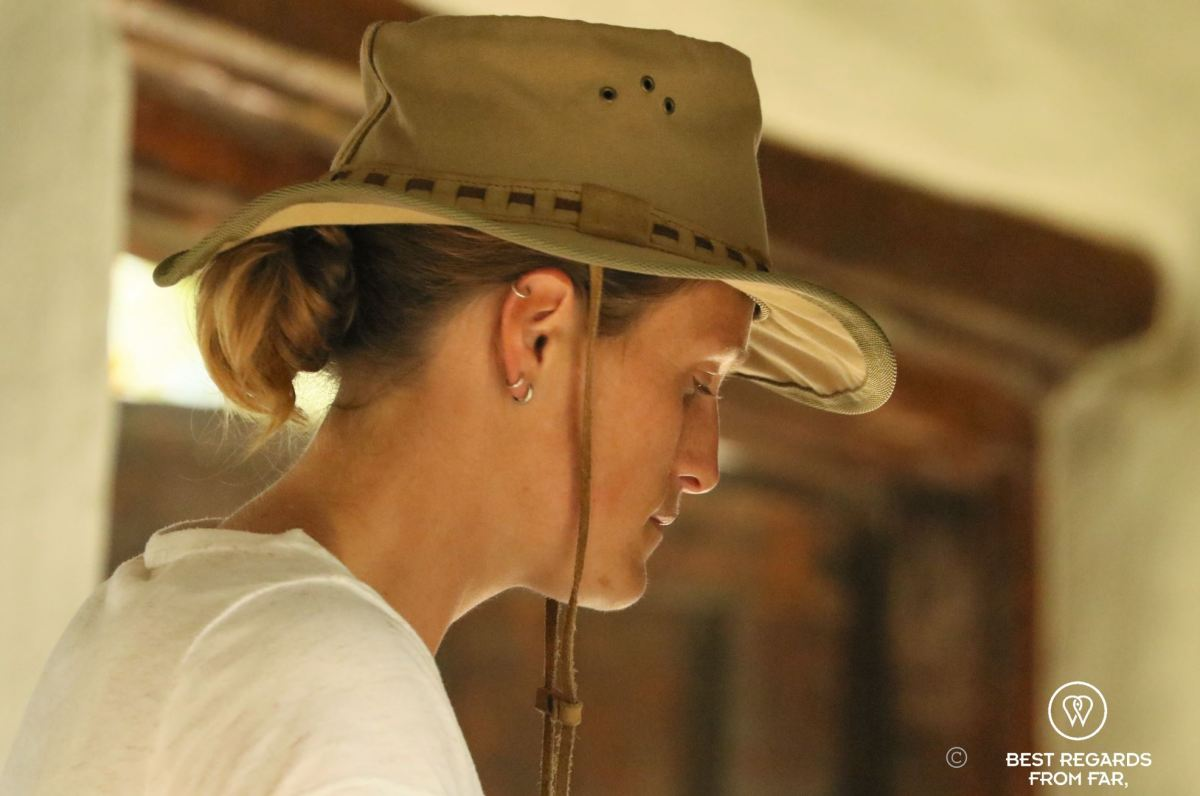 Photographer Marcella van Alphen getting ready for the game drive at &Beyond Phinda Private Game Reserve, South Africa.