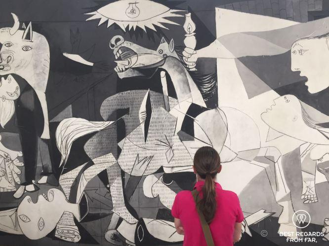 Contemplating Guernica, Museo Nacional Centro de Arte Reina Sofia, Madrid, Spain