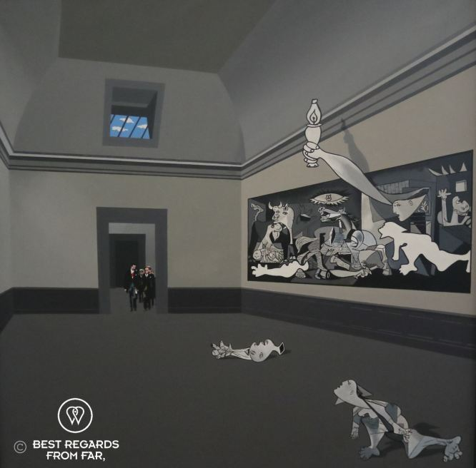 A satirical vision of why Guernica could not come home under Franco, La visita by Equipo Cronica