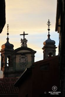 Close-up of the Church towers, Madrid