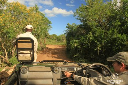 Tracker and ranger at &Beyond Phinda Private Game Reserve, South Africa