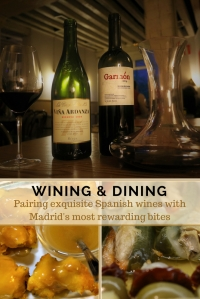 Tapas and wines - Pinterest - Pin - Madrid - Spain